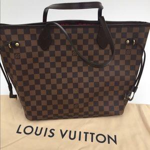 Louis Vuitton Damier Ebene / Cherry Neverfull MM